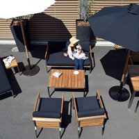 アウトドア ガーデン家具 チーク【メキシコ】コーヒーテーブル