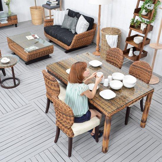 予約 送料無料!!【ケープ】ダイニングテーブル直輸入 アジアン家具