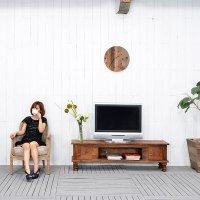 送料無料!!チーク【ジェニー】TVキャビ<br>直輸入 アジアン家具