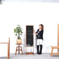 シングル・スタンディングミラー 直輸入 北欧家具 木製家具 アジアン家具 雑貨