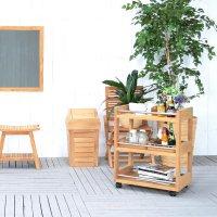 送料無料 チーク・バスルームトローリー【バスラー】WS 直輸入 木製家具 アジアン家具 雑貨