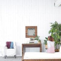 セール!送料無料【レペンス】スクエア ミラー(直輸入 北欧家具 木製家具 アジアン家具 雑貨)