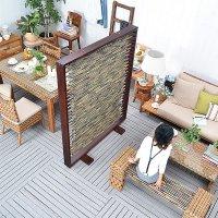 【サルビニア】スクリーンパネル 送料無料 直輸入 北欧家具 木製家具 アジアン家具