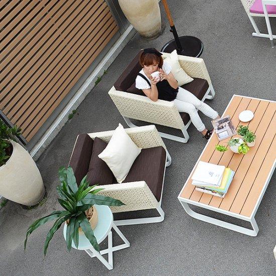 予約 セール!!送料無料【オーランド】ソファ 1人掛け アウトドア家具 ガーデン家具 アジアン家具