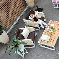 送料無料【オーランド】ソファ 1人掛け アウトドア家具 ガーデン家具 アジアン家具