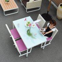 送料無料 【タコ】ダイニングテーブル 130×75 アウトドア家具 直輸入 アジアン家具