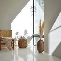 送料無料HPフラワーベース(ブラウン)#GB14005 アジアン家具 雑貨