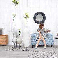 送料無料 HPフラワーベース(ホワイト)#GB14042 アジアン家具 雑貨