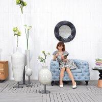 送料無料HPフラワーベース(ホワイト)#GB14047 アジアン家具 雑貨