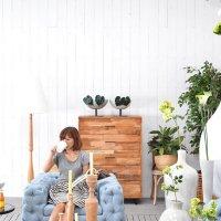 送料無料HPフラワーベース(ホワイト)#GB14048 アジアン家具 雑貨
