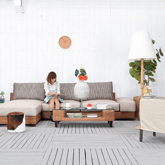 セール 送料無料  【ソーダライト】コーヒーテーブルwithガラス アジアン家具 雑貨