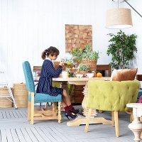 送料無料! 【サヴァラン】ダイニングチェア 椅子 アジアン家具