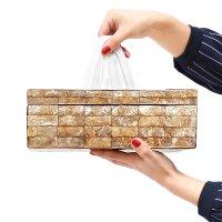 送料無料!シェル・ティッシュボックス (カットゴールド)バリ雑貨 アジア雑貨 アジアン家具