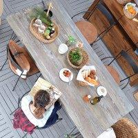 送料無料!  【フレジエ】ダイニングテーブル アジアン家具 古木 テーブル 机 デザイナーズ