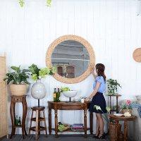 30%OFFセール★送料無料!【ヴァリナ】ミラー  鏡 洗面鏡 化粧鏡 アジアン 壁掛けミラー 鏡 壁掛け