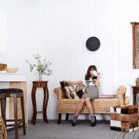 送料無料!チーク【ルナ】プラントスタンド  フラワースタンド アジアン 木製 アンティーク風 玄関 花台 家具