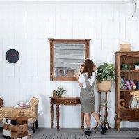 送料無料!チーク【フロレンシア】ミラー<br>鏡 洗面鏡 化粧鏡 アジアン 壁掛けミラー 鏡 壁掛け 四角 正方形