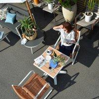 送料無料 【オーランド】ダイニングテーブル64x64 アウトドア家具 ガーデン家具