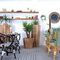 送料無料 【ミゲル】プランターS アジアン雑貨 木製プランター 木製プランター 鉢植え