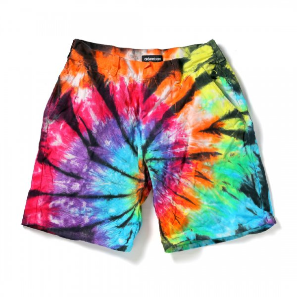 Tie Dyed Cotton Shorts