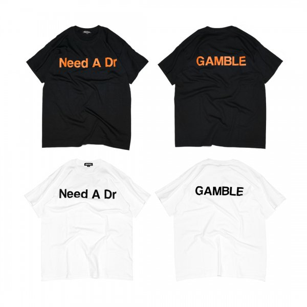 "DJ RYOW x ¥ELLOW BUCKS ""Need A Dr / GAMBLE"" T-Shirts"