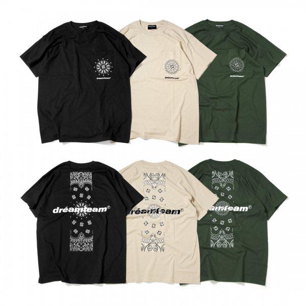 dreamteam Paisley Pocket T-Shirts<br>【Restock & New Color】