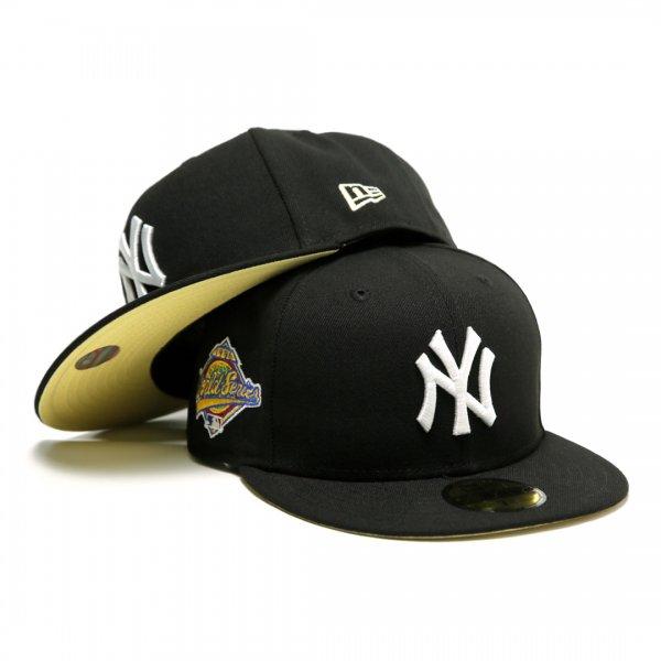 New York Yankees 1996 World Series New Era 59Fifty Fitted Cap Black [Light Yellow Bottom]