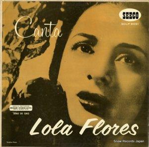 ロラ・フローレス - canta lola flores - SCLP9061