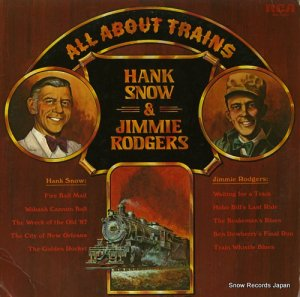 ハンク・スノウ&ジミー・ロジャース - all about trains hank snow and jimmie rodgers - ANL1-1052 (#106965)