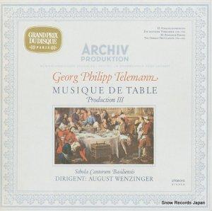 アウグスト・ヴェンツィンガー - telemann; musique de table production 3 - 2708010