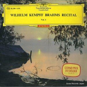 ウィルヘルム・ケンプ - ブラームス:名演集第1集 - SLGM-1256
