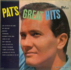 パット・ブーン - pat's great hits - DLP3071
