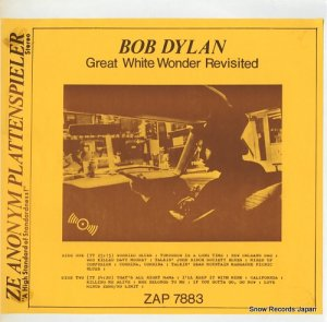 ボブ・ディラン - great white wonder revisited - ZAP7883