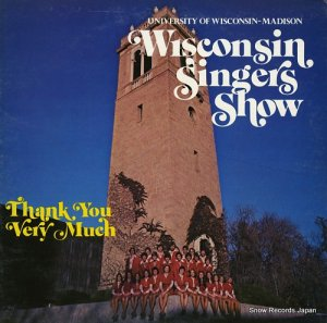 ザ・ウィスコンシン・シンガーズ - wisconsin singers show - thank you very much - ALR-1176 / USR9713
