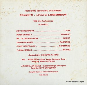 ジュゼッペ・パターネ - donizetti; lucia di lammermoor - HRE297-3(S)