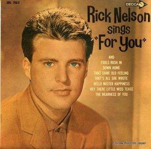 リッキー・ネルソン - あなたのために - JDL2162