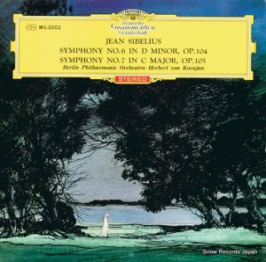 ヘルベルト・フォン・カラヤン - シベリウス:交響曲第6番ニ短調/第7番ハ長調 - MG-2052