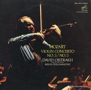 ダヴィド・オイストラフ - モーツァルト:ヴァイオリン協奏曲第3番、第5番 - SMK-7849