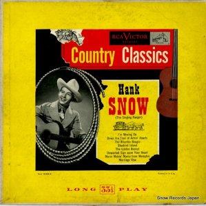 ハンク・スノウ - country classics - LPM3026