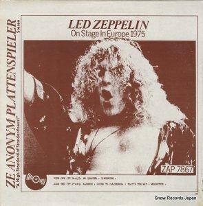 レッド・ツェッペリン - on stage in europe 1975 - ZAP7867/536