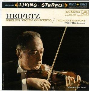 ヤッシャ・ハイフェッツ - sibelius; violin concerto in d minor op.47 - LSC-2435