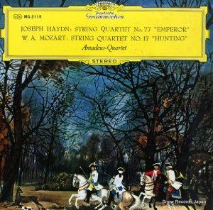 アマデウス弦楽四重奏団 - ハイドン:弦楽四重奏曲第77番「皇帝」 - MG-2115