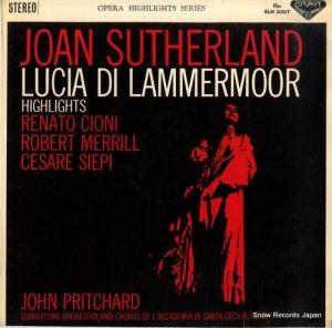 ジョン・プリッチャード - ドニゼッティ:歌劇「ルチア」ハイライツ - SLH3007