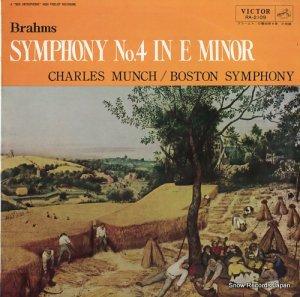 シャルル・ミュンシュ - ブラームス:交響曲第4番ホ短調 - RA-2109