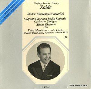 アルフォンス・リシュナー - mozart; zaide - MEL223