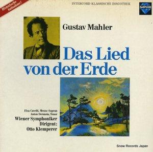 オットー・クレンペラー - mahler; das lied von der erde - INT120.926