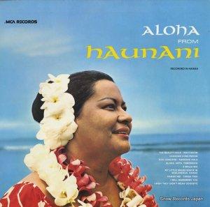 ハウナニ・カハレワイ - aloha from haunani - MCA-240