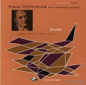 ヴィルヘルム・フルトヴェングラー - ブラームス:交響曲第4番ホ短調 - HA-5074