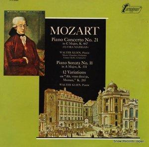 ヴァルター・クリーン - mozart; piano concerto no.21 and no.11 - TV-S34504