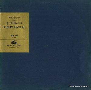 ジャック・ティボー - violin recital - GR-79
